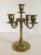 Collection Here Antique Ornate Heavy Brass Candelabra 4 Arm 5 Cup Candle Holder Centerpiece Decorative Arts