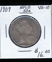 1909  Newfoundland 50 Cents VG TB133