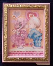 Liebe, fertiges Bild mit Rahmen, 21x16, Glasperlen, Handarbeit, zum Aufstellen
