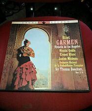 Bizet Carmen Angel Stereo LP Record (Vinil)English Translation 1952 (3) Records