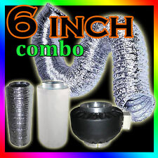 "2x Hydroponics Grow Light Tent Kit 150mm 6"" Fan Carbon Filter Silencer Ducting"