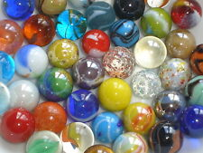 40 COLOURFUL GLASS MARBLES a mixture of the world's best 14mm & 16mm game play