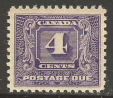 Canada #J8, 1930 4c Postage Due - Second Postage Due Series, Unused NH