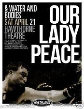 Our Lady Peace 2012 Portland Concert Tour Poster -Progressive Rock