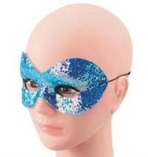 Blue Sparkle Glitter Domino Masquerade Eye Mask Fancy Dress NEW P1606