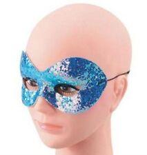 Blue Sparkle Glitter Domino Masquerade Eye Mask Fancy Dress NEW P1606