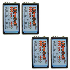 4 x 9V Volt 160mAh Ni-Cd Rechargeable Battery Ultracell PP3 6F22 17R8H