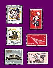 ESPAÑA 1965 B Sellos 1670+1671+1672/3+1674+1677