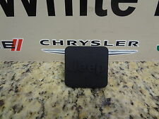 "01-16 Jeep Hitch Receiver Plug 1 1/4"" Jeep Logo Black Mopar Factory Oem 82208457"