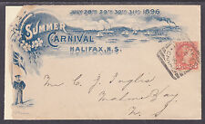 Canada Sc 37 on 1896 Summer Carnival Cover to Nova Scotia