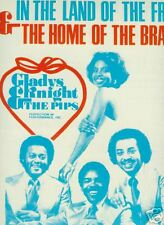 GLADYS KNIGHT & PIPS 1976 Poster Ad WE LOVE AMERICA
