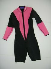 OCEANIC Reversible Black/Pink/Purple NEOPRENE WET SUIT Surf Water Ski Sz Adult M