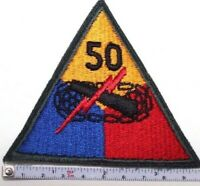 Vietnam era US Army 50th Armored Division full color cut edge sew on Patch P7013
