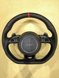 AUDI S-LINE FLAT BOTTOM STEERING WHEEL _ RS5 RS6 S3 TTS S6 S7 S4 S5 TTRS RS7 RS4