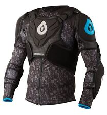 SixSixOne 661 Evo Pressure Suit Body Armor Black/Cyan Large L - Brand New