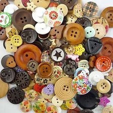50pcs Wooden Mixed Round Buttons Craft-Scrapbook-Embellishment-Sew Cards