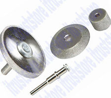 4 pc Large Rotary Diamond Grinding Carve Sharpen Wheel V-Shape Disc Blade