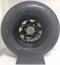 "15"" UTILITY BOAT TRAILER WHEEL TIRE NEW BLACK SPOKE 6 LUG st225/75R15 10 PLY"