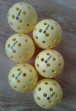6 NEW Onix Pure-2 Outdoor Pickleball Balls Yellow