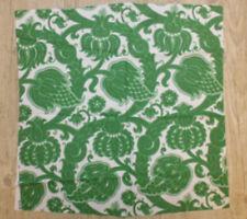tissu textile coupon ameublement imprimé vintage fleur indienne vert 59x53 cm