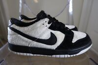 Nike SB Dunk Low Premium QS Panda White Black 747072-101 Size 6.5Y