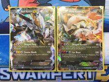 BLACK KYUREM EX 101/149 & WHITE KYUREM EX 103/149 Pokemon Boundaries Crossed SET
