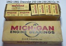 Michigan Engine Bearings 1124 K Std Chevrolet 250 194 230 292 Cu In N.O.R.S. USA