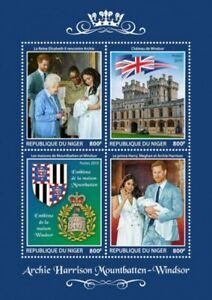 Niger - 2019 Royal Baby Prince Archie - 4 Stamp Sheet - NIG190324a