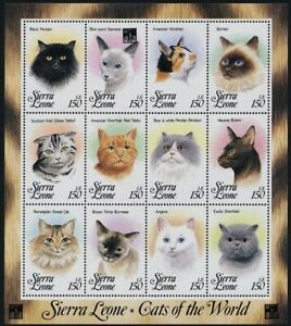 Sierra Leone 1993 MNH SS, Cats of the World, Domestic Animals -