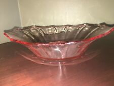 Antique Pink Depression Glass Candy Nut Dish 10""