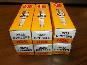 SET OF 6 MerCruiser Ignition Spark Plugs Plug BPR6EFS NGK 3623 AC 4.3 MERCURY