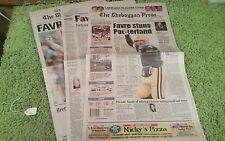 Green Bay Packers Brett Favre Retires Newspapers *The Sheboygan Press* 3/5/08