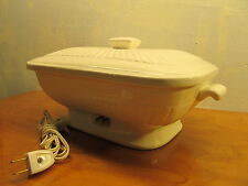 chadwick porcelain heated serving dish