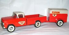 Vintage Nylint U-Haul Moving Ford Pickup Truck & Trailer 1960s Pressed Steel Toy