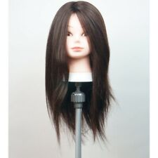 SAMMI SMC-1830 Hairdressing Training Mannequin 30% Human 70% Synthetic Hair Mix