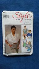 STYLE pattern 1281 blouse size 14 Women's  1980's