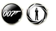 James Bond 007 Character and Logo Glass Domed Cufflinks