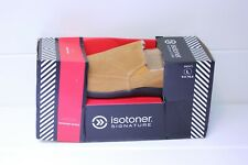 ISOTONER Men's Slip-On Slippers Brown Suede Size L 9.5 - 10.5
