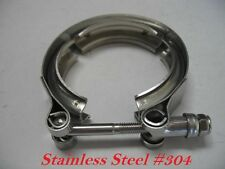"""New 5"""" Inch Turbo Exhaust Down Pipe Stainless #304 V-Band V band Vband Clamp"""