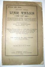 1892 War Talks of Confederate Veterans, First Edition, Advance Sheets