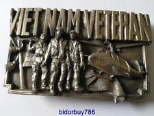 Vietnam veteran belt buckle vintage metal belt buckle 1983.   (B22)