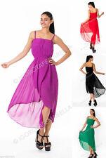 Polyester Patternless Midi Dresses for Women