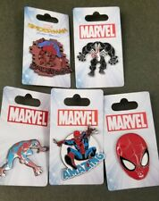 Spider-Man Venom Disney 5 Pin lot: Homecoming, All new with cards