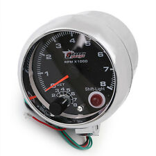 "12V Car Vehicle 3.75"" Inch RPM Tachometer Tacho Gauge With Shift Light 0-8000"