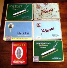 Old Black Cat, Virginia, Players, Prince Albert Cigarettes Metal Advertising Tin