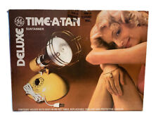 GE Deluxe Time a Tan Suntanner In Original Box 2 Pair of Goggles & Instructions