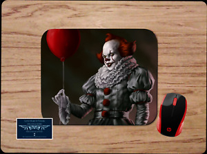 CREEPY PENNYWISE IT CLOWN BALLOON CUSTOM MOUSE PAD MAT SCARY HORROR MOVIE ART