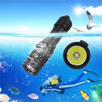 Underwater 5000Lumen XM-L2 LED Scuba Diving 18650 Battery Flashlight Torch