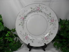 Set of 8 Dinner Plates YOURS TRULY MPN 5341 White Mikasa Silver Trim (Loc 4)