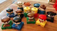 13 LEGO DUPLO VINTAGE FIGURES NICE CONDITION FOR AGE GREAT ASSORTMENT